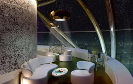 Interior of the restaurant in Dubai