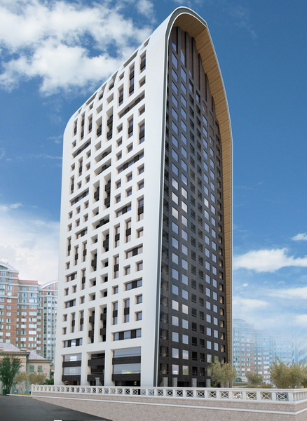 Residential and office complex on the street. Dimitrova