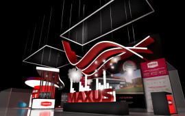 Exhibition stand for MAXUS
