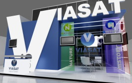"Exhibition stand for the company ""VIASAT"""
